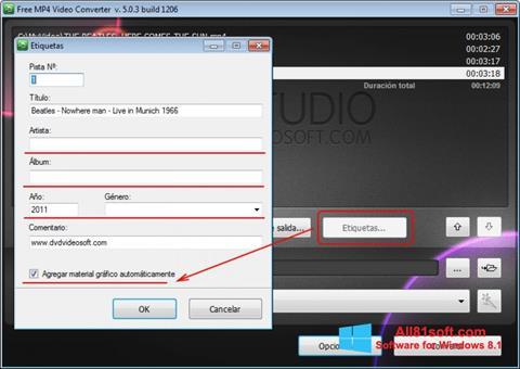 ภาพหน้าจอ Free MP4 Video Converter สำหรับ Windows 8.1