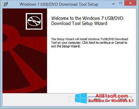 ภาพหน้าจอ Windows 7 USB DVD Download Tool สำหรับ Windows 8.1