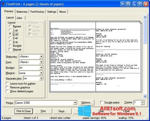ภาพหน้าจอ FinePrint สำหรับ Windows 8.1