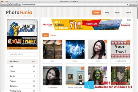 ภาพหน้าจอ PhotoFunia สำหรับ Windows 8.1