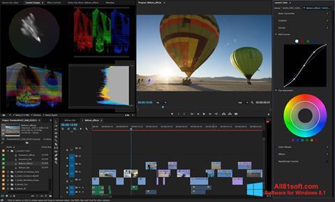 ภาพหน้าจอ Adobe Premiere Pro สำหรับ Windows 8.1