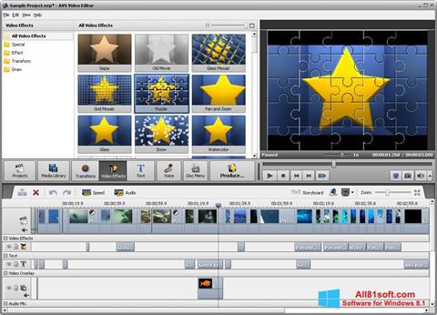 ภาพหน้าจอ AVS Video Editor สำหรับ Windows 8.1