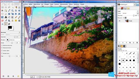 ภาพหน้าจอ GIMP สำหรับ Windows 8.1
