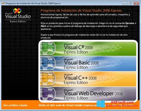 ภาพหน้าจอ Microsoft Visual Studio สำหรับ Windows 8.1