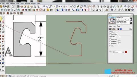 ภาพหน้าจอ SketchUp สำหรับ Windows 8.1