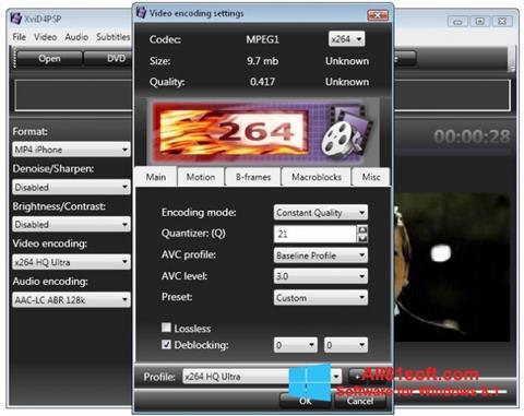 ภาพหน้าจอ XviD4PSP สำหรับ Windows 8.1