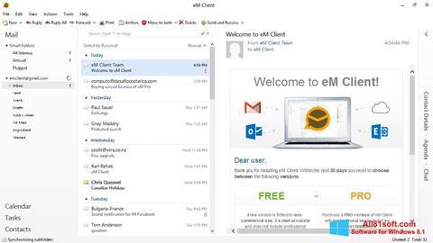 ภาพหน้าจอ eM Client สำหรับ Windows 8.1