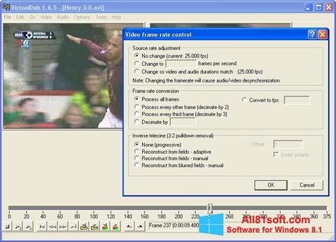 ภาพหน้าจอ VirtualDubMod สำหรับ Windows 8.1