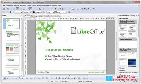 ภาพหน้าจอ LibreOffice สำหรับ Windows 8.1