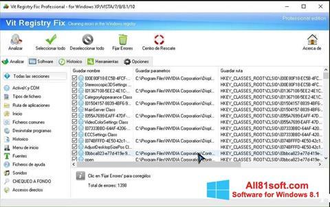 ภาพหน้าจอ Vit Registry Fix สำหรับ Windows 8.1