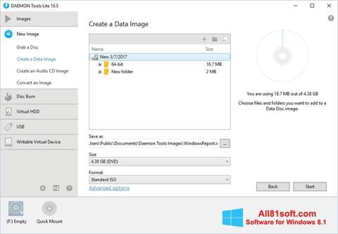ภาพหน้าจอ DAEMON Tools Lite สำหรับ Windows 8.1
