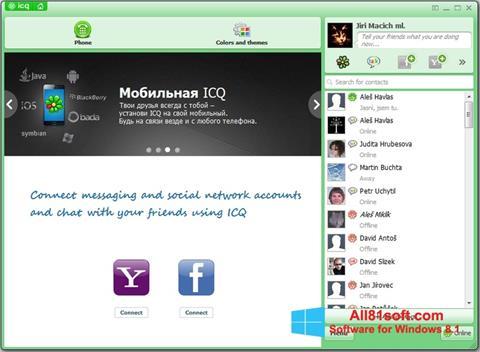 ภาพหน้าจอ ICQ สำหรับ Windows 8.1