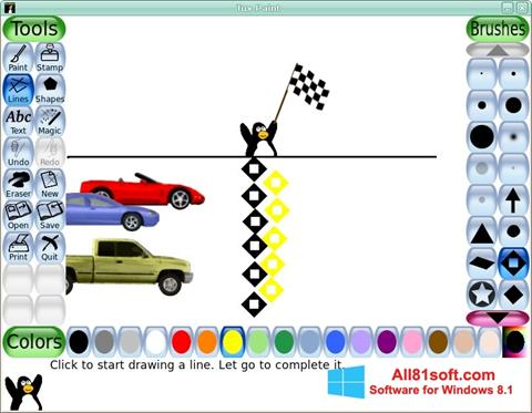 ภาพหน้าจอ Tux Paint สำหรับ Windows 8.1