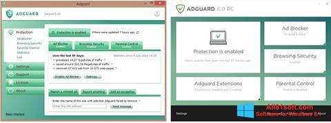 ภาพหน้าจอ Adguard สำหรับ Windows 8.1