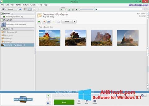 ภาพหน้าจอ Picasa สำหรับ Windows 8.1