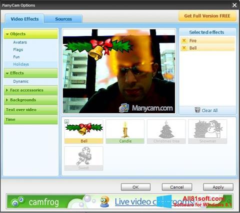 ภาพหน้าจอ ManyCam สำหรับ Windows 8.1