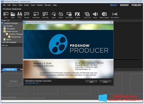 ภาพหน้าจอ ProShow Producer สำหรับ Windows 8.1