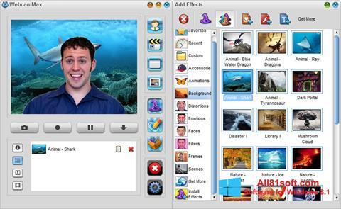 ภาพหน้าจอ WebcamMax สำหรับ Windows 8.1