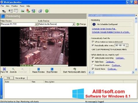 ภาพหน้าจอ WebCam Monitor สำหรับ Windows 8.1
