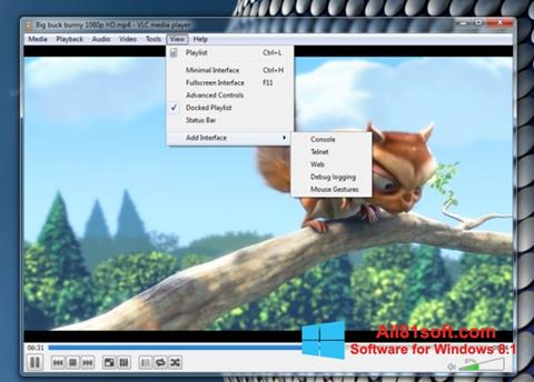 ภาพหน้าจอ VLC Media Player สำหรับ Windows 8.1