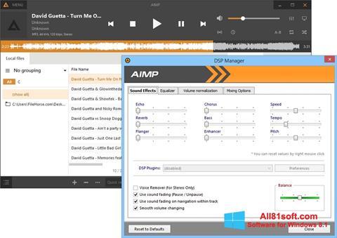 ภาพหน้าจอ AIMP สำหรับ Windows 8.1