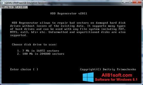 ภาพหน้าจอ HDD Regenerator สำหรับ Windows 8.1