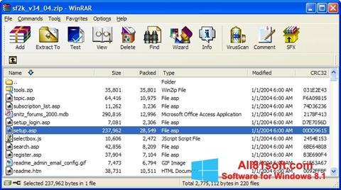 ภาพหน้าจอ WinRAR สำหรับ Windows 8.1