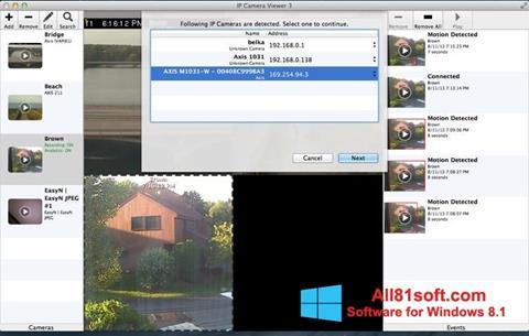 ภาพหน้าจอ IP Camera Viewer สำหรับ Windows 8.1