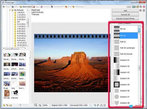 ภาพหน้าจอ PhotoScape สำหรับ Windows 8.1