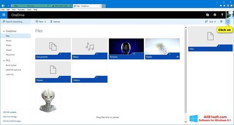 ภาพหน้าจอ OneDrive สำหรับ Windows 8.1