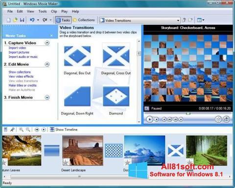 ภาพหน้าจอ Windows Movie Maker สำหรับ Windows 8.1