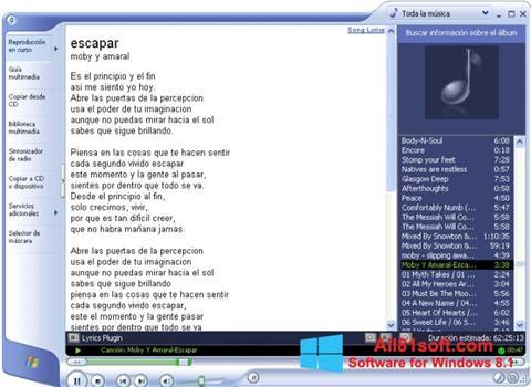 ภาพหน้าจอ Windows Media Player สำหรับ Windows 8.1