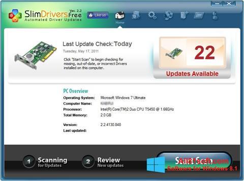 ภาพหน้าจอ SlimDrivers สำหรับ Windows 8.1