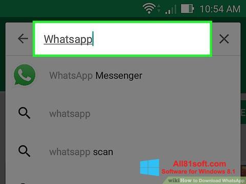 ภาพหน้าจอ WhatsApp สำหรับ Windows 8.1