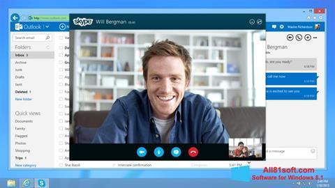 ภาพหน้าจอ Skype สำหรับ Windows 8.1